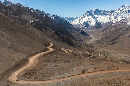 Argentina-mendoza-Andes-route