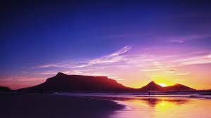 south-africa-table-mountain-sunset
