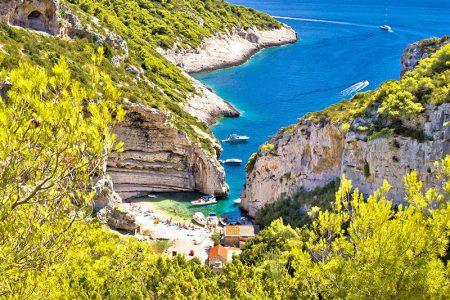 Croatia Vis Island Stiniva Bay